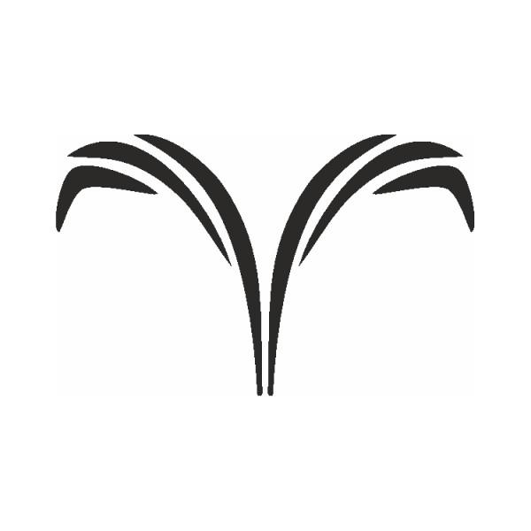 Selbstklebe Schablone Widder Eulenspiegel