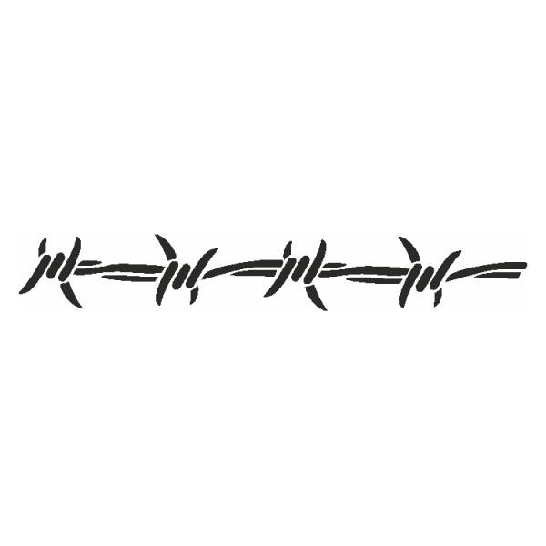 Selbstklebe Schablone Stacheldraht-Band Eulenspiegel