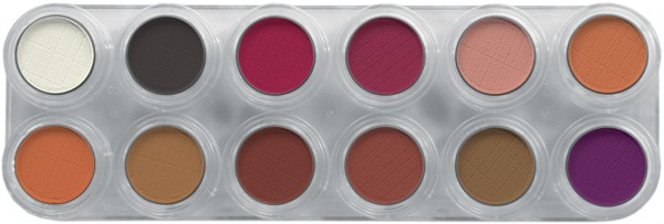 Grimas Eyeshadow - Rouge Palette 12 RB - 12 x 2g