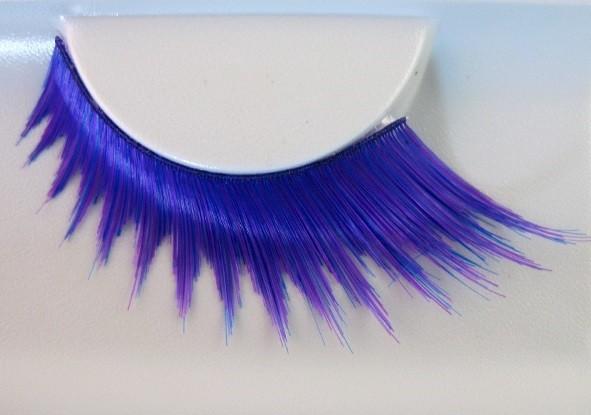 Eulenspiegel Wimpern Blau / Pink