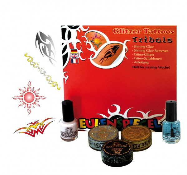 Tattoo Glitzer Set Tribals (XL) Eulenspiegel