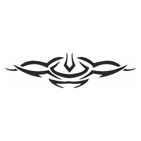 Selbstklebe Schablone Symmetric Tribal Eulenspiegel