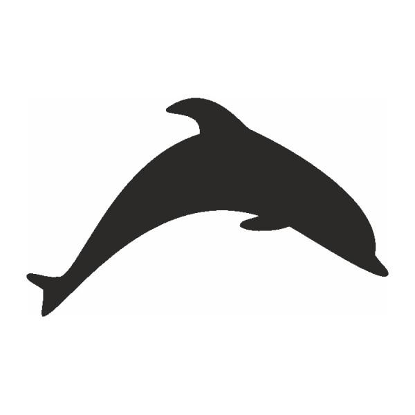 Selbstklebe Schablone Delphin Eulenspiegel