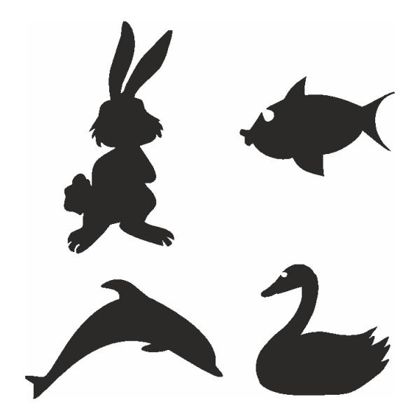 Selbstklebe Schablonen Set Animals Eulenspiegel