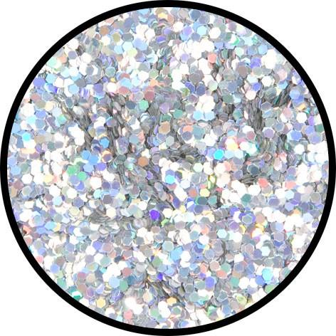 12 g Holographischer Streu Glitzer Silber Juwel Grob