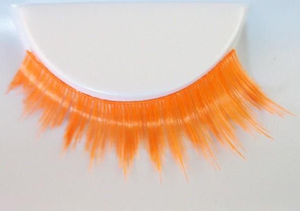 Eulenspiegel Wimpern Orange UV Fluo Effekt