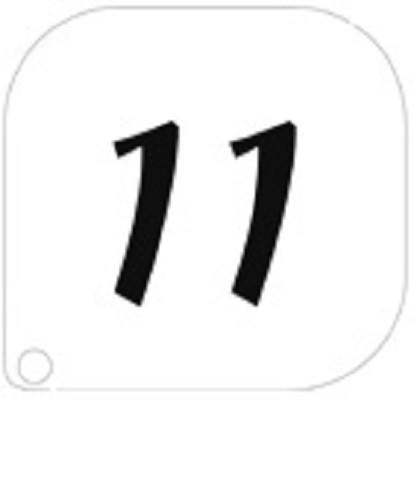 Grimas Schminkschablone 11 Nr. 25
