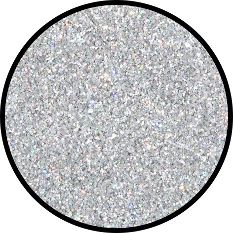 6 g Holographischer Streu Glitzer Silber Juwel Fein