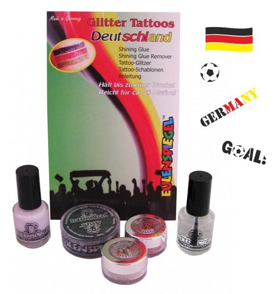 Tattoo Glitzer Set Deutschland Eulenspiegel