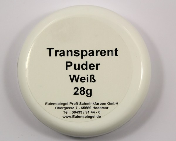 Eulenspiegel Transparent Puder Weiß 28 g